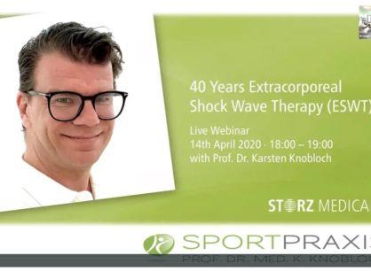 Webinar Storz Medical - 40 lat terapii falą uderzeniową - 14 kwietnia 2020 r.