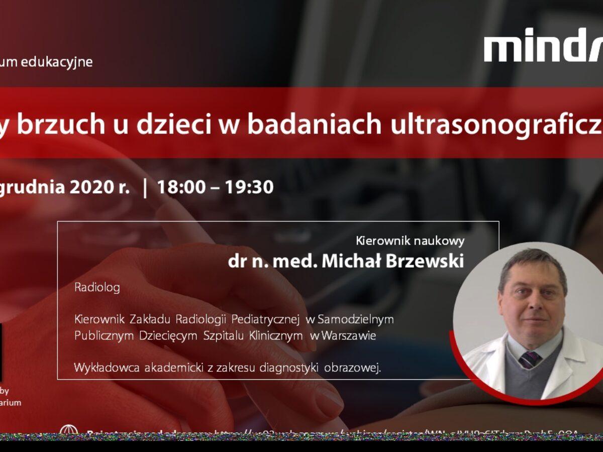 Webinar - ostry brzuch u dzieci w badaniach USG - 04.12.2020 r.